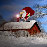 Liten skorsten för jultomten